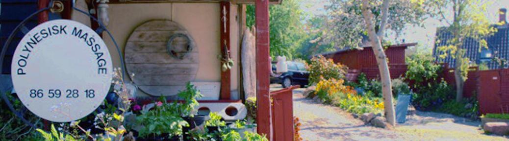 Indkørsel til Polynesisk massage klinikken